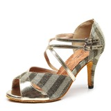Women's Fabric Heels Latin Dance Shoes (053182561)