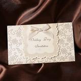 Style classique Pli en 3 Invitation Cards avec Rubans (Lot de 50) (114032380)