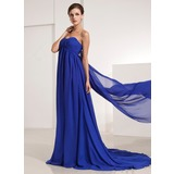 Empire Sweetheart Watteau Train Chiffon Prom Dresses With Ruffle (018135106)