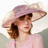 Ladies' Simple/Vintage/Artistic Cambric Fascinators (196178838)
