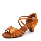 Женщины Шелковые Латино с пряжка Обувь для танцев (053208561)