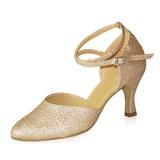 Женщины Мерцающая отделка На каблуках На каблуках Бальные танцы с Ремешок на щиколотке Обувь для танцев (053021401)
