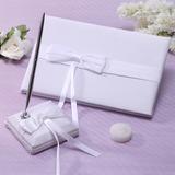 Elegante Fitas/Arco Livro de visitas & conjunto de canetas (101037368)