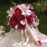 Цветение Круглый атласная Свадебные букеты (124032076)