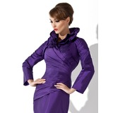 Long Sleeve Taffeta Special Occasion Wrap (013012281)