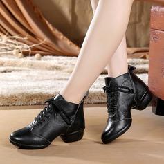 Женщины Натуральня кожа Танцевальные кроссовки Современный Обувь для танцев (053138900)