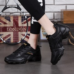 Мужская кожа ткань Танцевальные кроссовки Танцевальные кроссовки с Шнуровка Обувь для танцев (053106497)
