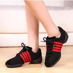 Женщины Ткань Танцевальные кроссовки Практика Обувь для танцев (053075967)