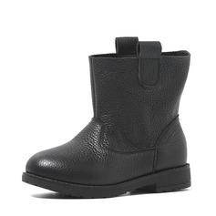 Mädchens Geschlossene Zehe Echtleder Flache Ferse Flache Schuhe (207142978)
