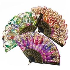 Цветочный дизайн пластиковые/Шелковые стороны вентилятора (набор из 4) (051055111)