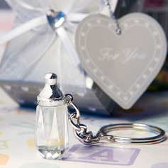 Clássico Chique garrafa de cristal Aço inoxidável Chaveiros (051024599)