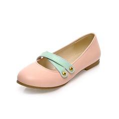 Konstläder Flat Heel Platta Skor / Fritidsskor Stängt Toe med Paljetter skor (086048702)