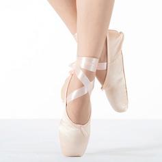 Женщины ткань На плокой подошве Обувь Пуанты Обувь для танцев (053111521)