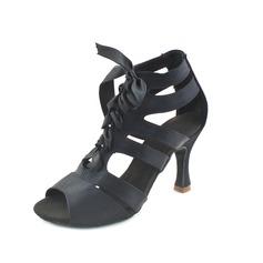 Kvinder Satin Hæle sandaler Latin Dansesko (053012239)