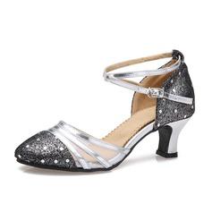 Женщины кожа На каблуках Бальные танцы с Ремешок на щиколотке Обувь для танцев (053059126)
