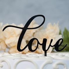 Сладкая любовь/Г-н & Mrs акрил Фигурки для торта (119156982)