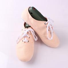 Женщины Холст На плокой подошве Балет Джаз Обувь для танцев (053111513)