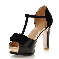 Tekonahka Chunky heel Sandaalit Avokkaat jossa Jousi Solki kengät (087042949)