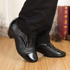 Мужская Натуральня кожа На каблуках Сандалии Латино Бальные танцы Практика Обувь для Персонала Обувь для танцев (053067433)