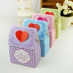 Bloemen hart ontwerp Bedank Doosjes (Set van 12) (050032970)
