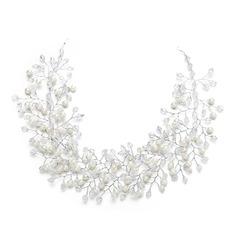 Дамы Мода хрусталь/Перлы ложный ободки с искусственный жемчуг/хрусталь (Продается в виде единой детали) (042148437)
