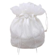 Прекрасный атласная с Цветок/Имитация Pearl Сумочка невесты (012026337)