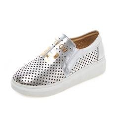 Vrouwen Kunstleer Flat Heel Flats Closed Toe schoenen (086089831)