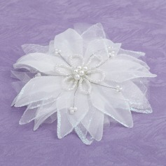 Элегантные Искусственного шелка Цветы и перья с искусственный жемчуг (042026413)