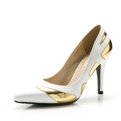Femmes Satiné Talon stiletto Escarpins Bout fermé avec Semelle chaussures (085059865)