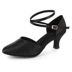 Женщины кожа На каблуках На каблуках Бальные танцы с Ремешок на щиколотке Обувь для танцев (053021519)
