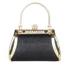 Elegante Metal/PU con Rhinestone Bolso de Mano/Bolsos de Moda (012040734)