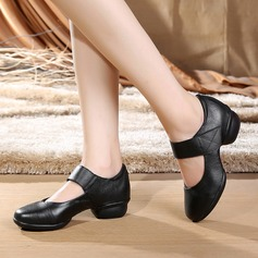 Женщины Натуральня кожа Танцевальные кроссовки Современный Обувь для танцев (053138899)