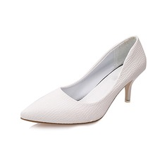 Женщины кожа Высокий тонкий каблук На каблуках (047108601)