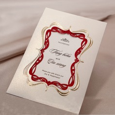 Personlig Tappning Färg Wrap & Pocket Invitation Cards (Sats om 50) (114031406)