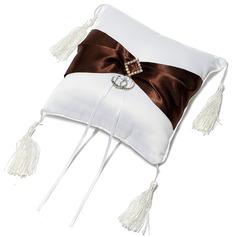 Tyylikäs Rengas Tyyny sisään Satiini jossa Satiininauhavöitä/Tupsu (103049645)