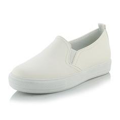 Женщины Натуральня кожа Плоский каблук На плокой подошве обувь (086138244)