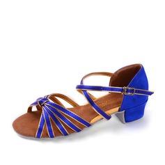 Femmes Satiné Sandales Latin avec Boucle Ouvertes Chaussures de danse (053154024)
