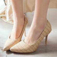 Женщины Замша Высокий тонкий каблук На каблуках Закрытый мыс с Другие обувь (085124726)