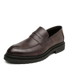 Мужская кожа из микроволокна Пенни Лоафер вскользь Men's Loafers (260173566)