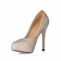 Vrouwen Sprankelende Glitter Stiletto Heel Closed Toe Plateau Pumps (047017460)