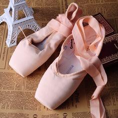 Женщины Холст Обувь Пуанты Обувь для танцев (053121916)
