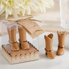 винтажном стиле Дизайн обуви керамика соль и перец шейкеры (Набор из 2 штук) (051066985)