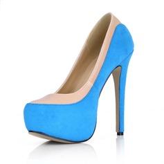Suede Stiletto Heel Pumps Plateau Closed Toe schoenen (085022630)
