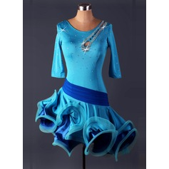 Naisten Tanssivaatteet Elastaani Latinalainen tanssi Trikoot (115086075)