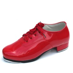 Vrouwen Kinderen Patent Leather Hakken Tapdansen met Vastrijgen Dansschoenen (047041996)