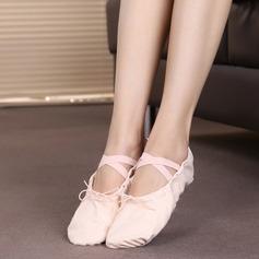 Женщины Холст На плокой подошве Балет Обувь для танцев (053104783)