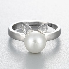 s925 Silver Unieke Alloy Cat Ear Women's Fashion Rings Geschenken (129140489)