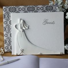 La novia y el novio de Diseño Diamantes de imitación Libro de visitas (101049657)