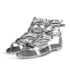 Лакированная кожа Плоский каблук Сандалии с пряжка обувь (087063715)