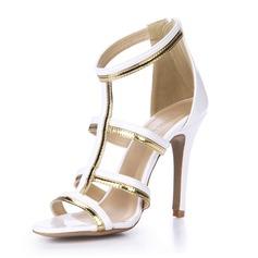 Lackskinn Sandaler Pumps Peep Toe skor (087051706)